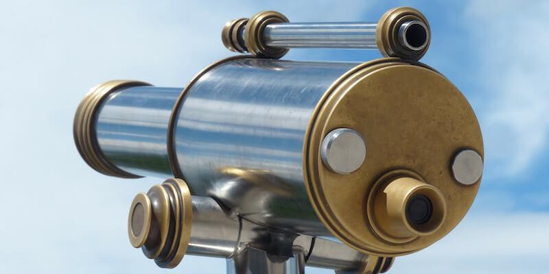 A telescope.
